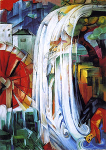 Franz Marc The Enchanted Mill - Canvas Art Print