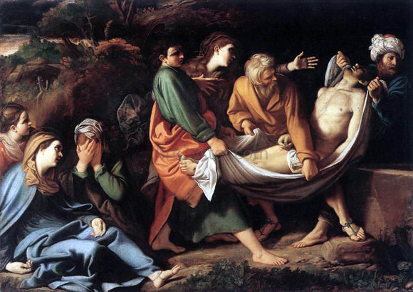 Sisto Badalocchio The Entombment of Christ - Canvas Art Print