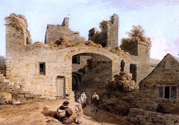 Joseph Powell The Entrance To Conway Castle, Caernarvonshire - Canvas Art Print