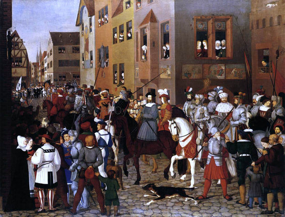 Franz Pforr The Entry of Emperor Rudolf of Habsburg into Basle - Canvas Art Print
