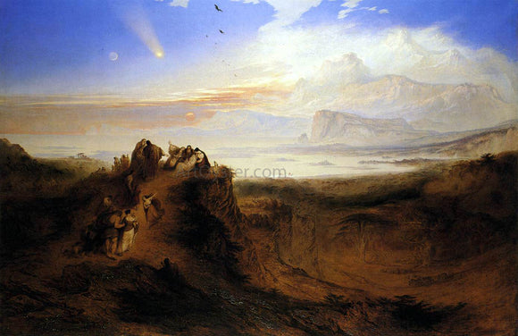 John Martin The Eve of the Deluge - Canvas Art Print