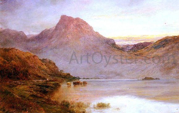 Senior Alfred De Breanski The Evening Glow, Near Arrochar, N.B. - Canvas Art Print