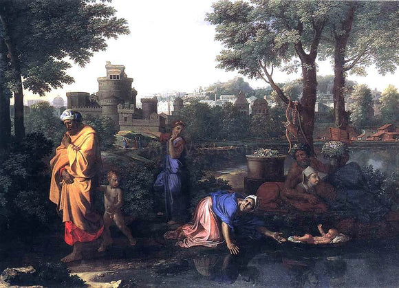 Nicolas Poussin The Exposition of Moses - Canvas Art Print