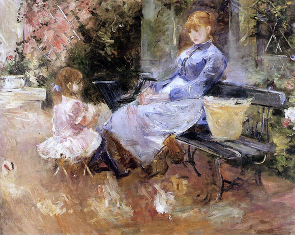 Berthe Morisot A Fable - Canvas Art Print