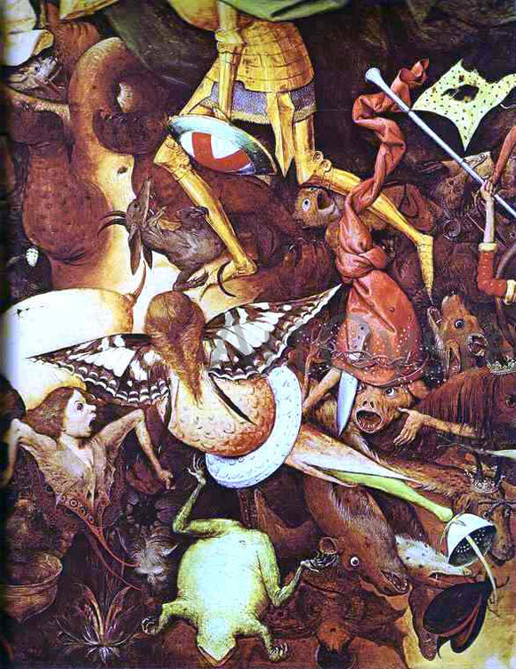 The Elder Pieter Bruegel The Fall of the Rebel Angels. Detail - Canvas Art Print
