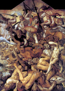 The Elder Frans Floris The Fall of the Rebellious Angels - Canvas Art Print