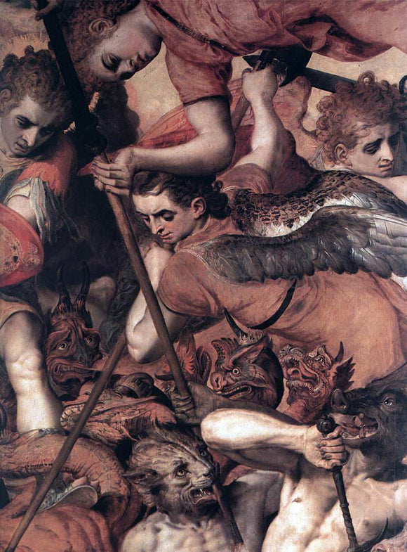 The Elder Frans Floris The Fall of the Rebellious Angels (detail) - Canvas Art Print