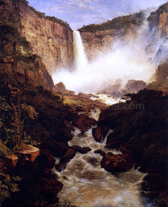 Frederic Edwin Church The Falls of Tequendama, Near Bogota, New Granada - Canvas Art Print