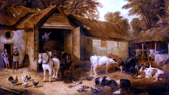 Jr. John Frederick Herring The Farmyard - Canvas Art Print