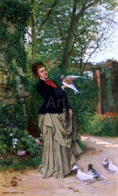 Adrien Moreau The Favorite Bird - Canvas Art Print