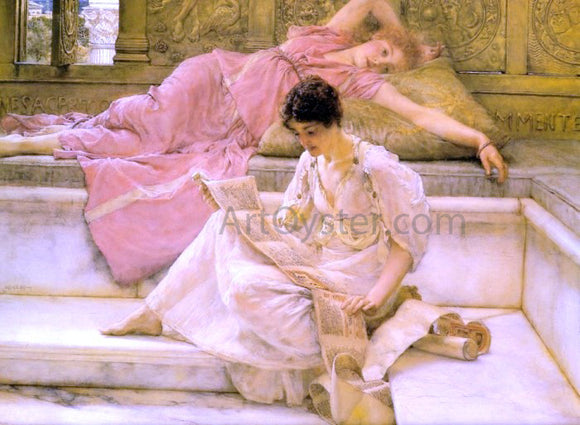 Sir Lawrence Alma-Tadema The Favourite Poet - Canvas Art Print