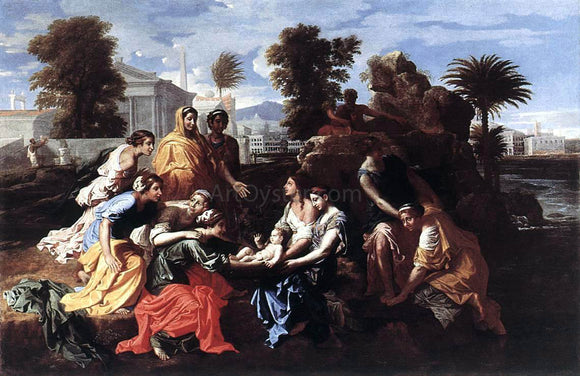 Nicolas Poussin The Finding of Moses - Canvas Art Print