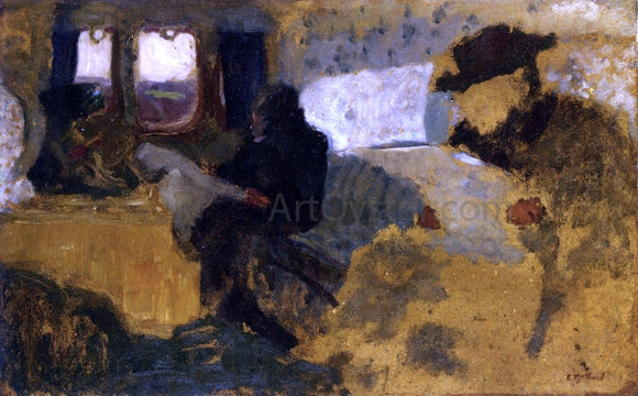 Edouard Vuillard The First Class Compartment - Canvas Art Print