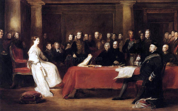 Sir David Wilkie The First Council of Queen Victoria - Canvas Art Print