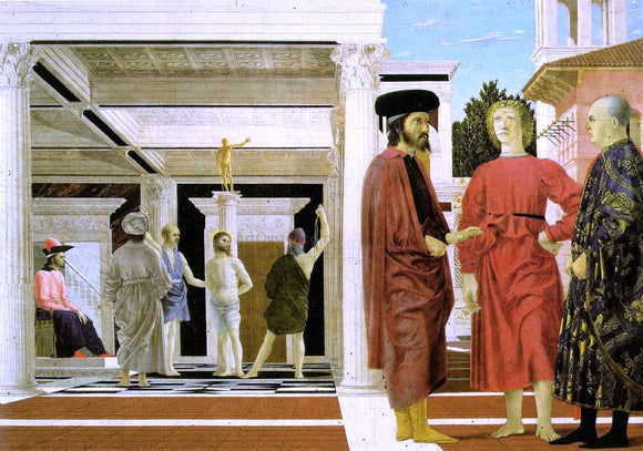 Piero Della Francesca The Flagellation - Canvas Art Print