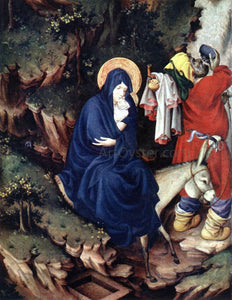 Melchior Broederlam The Flight into Egypt - Canvas Art Print