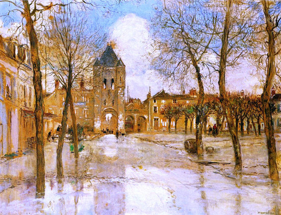 Jean-Francois Raffaelli The Flood - Canvas Art Print