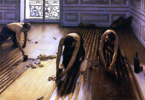 Gustave Caillebotte The Floor Scrapers (also known as The Floor Strippers) - Canvas Art Print