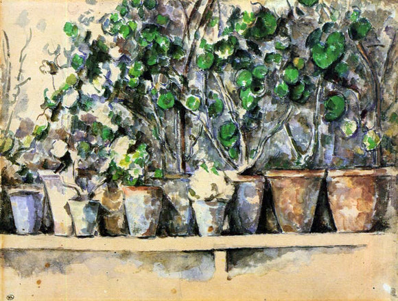 Paul Cezanne The Flower Pots - Canvas Art Print