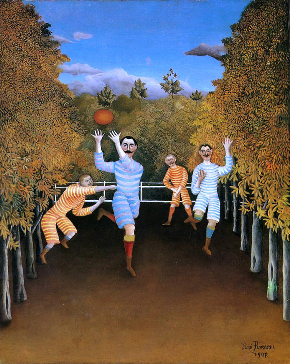 Henri Rousseau The Football Players - Canvas Art Print