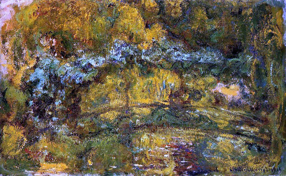 Claude Oscar Monet The Footbridge over the Water-Lily Pone - Canvas Art Print