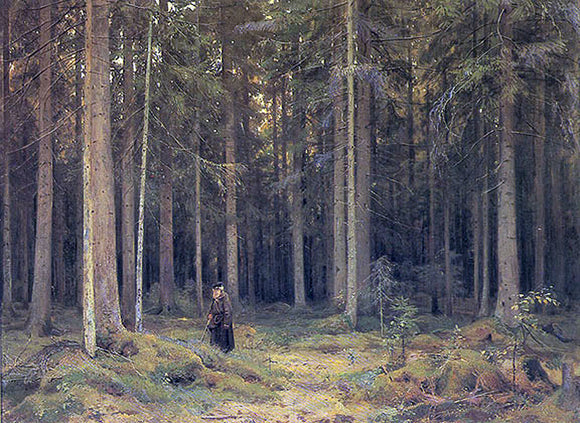 Ivan Ivanovich Shishkin The Forest of Countess Mordvinova - Canvas Art Print