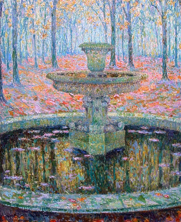 Henri Le Sidaner A Fountain - Canvas Art Print