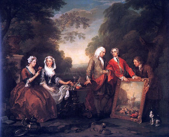 William Hogarth The Fountaine Family - Canvas Art Print