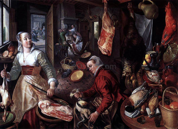 Joachim Beuckelaer The Four Elements: Fire - Canvas Art Print
