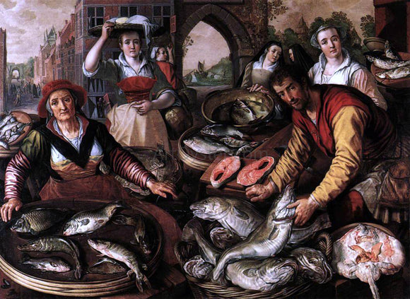 Joachim Beuckelaer The Four Elements: Water - Canvas Art Print