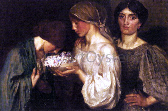Robert Anning Bell The Fragrant Posy - Canvas Art Print