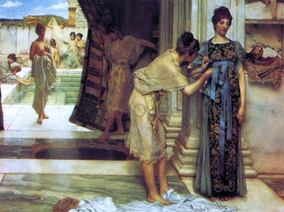 Sir Lawrence Alma-Tadema The Frigidarium - Canvas Art Print