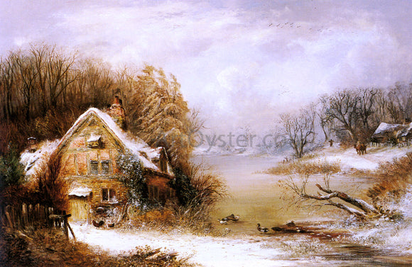 William Thomas Such The Frozen Heart Of Winter - Canvas Art Print