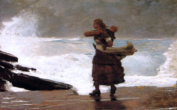 Winslow Homer The Gale - Canvas Art Print