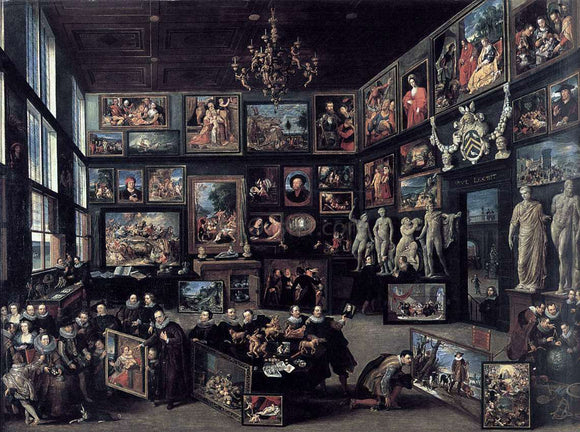Willem Van Haecht The Gallery of Cornelis van der Geest - Canvas Art Print