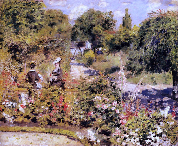 Pierre Auguste Renoir The Garden at Fontenay - Canvas Art Print