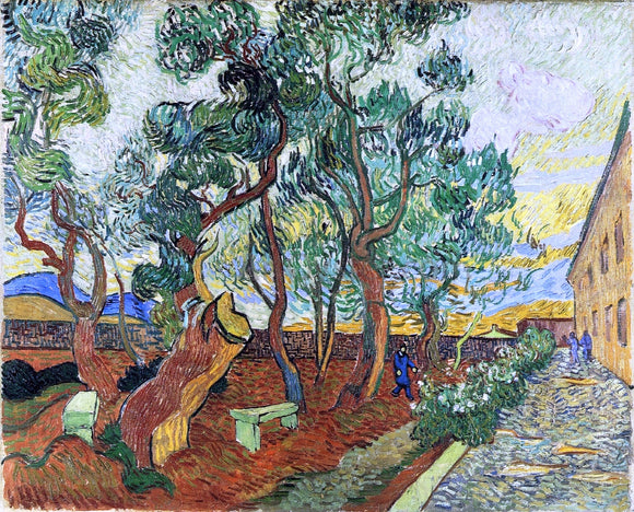 Vincent Van Gogh The Garden of the Asylum in Saint-Remy - Canvas Art Print