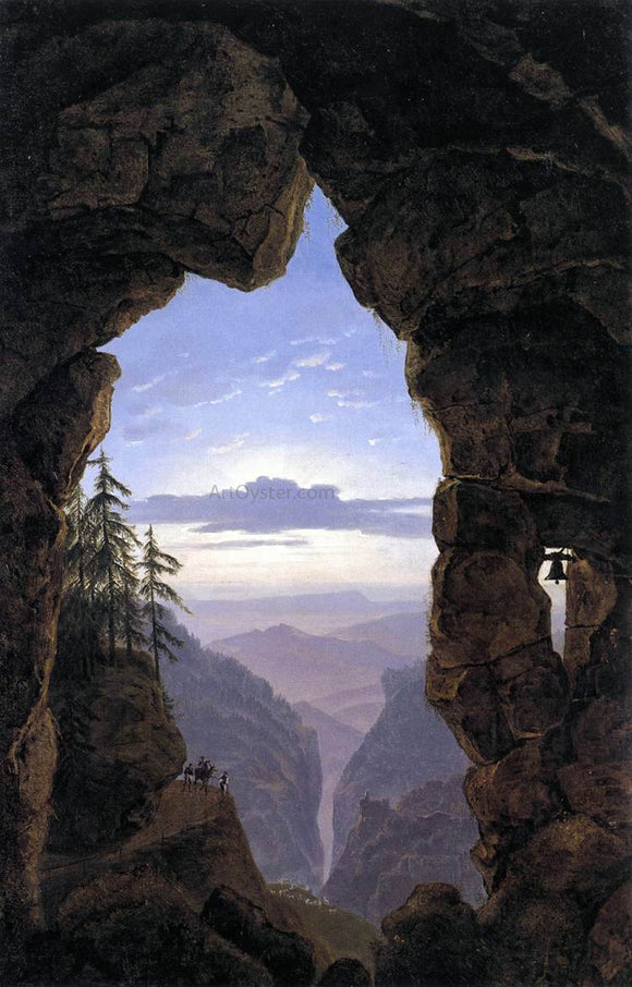 Karl Friedrich Schinkel The Gate in the Rocks - Canvas Art Print