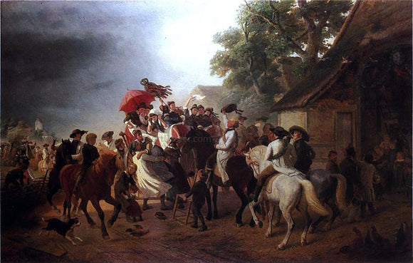 William Hahn The German Festival - Canvas Art Print