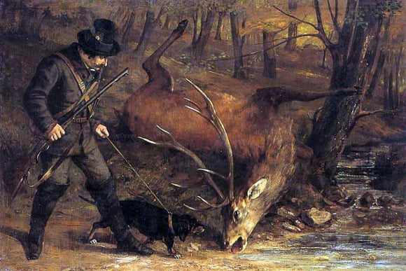 Gustave Courbet The German Huntsman - Canvas Art Print