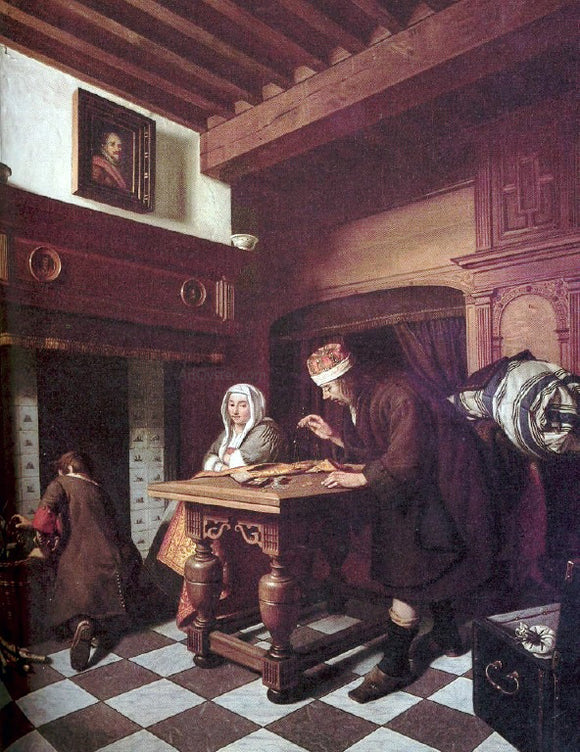 Cornelis De Man The Gold Weigher - Canvas Art Print