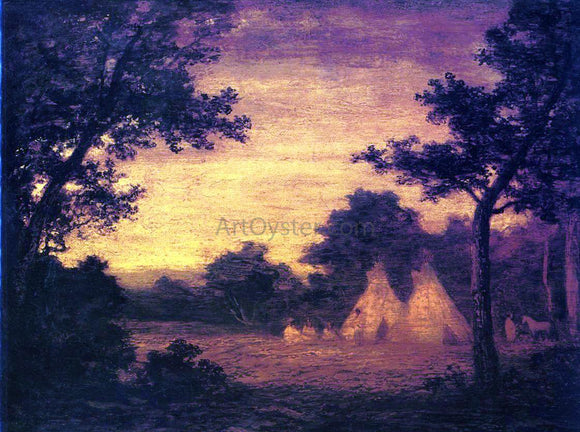 Ralph Albert Blakelock The Golden Hour - Canvas Art Print