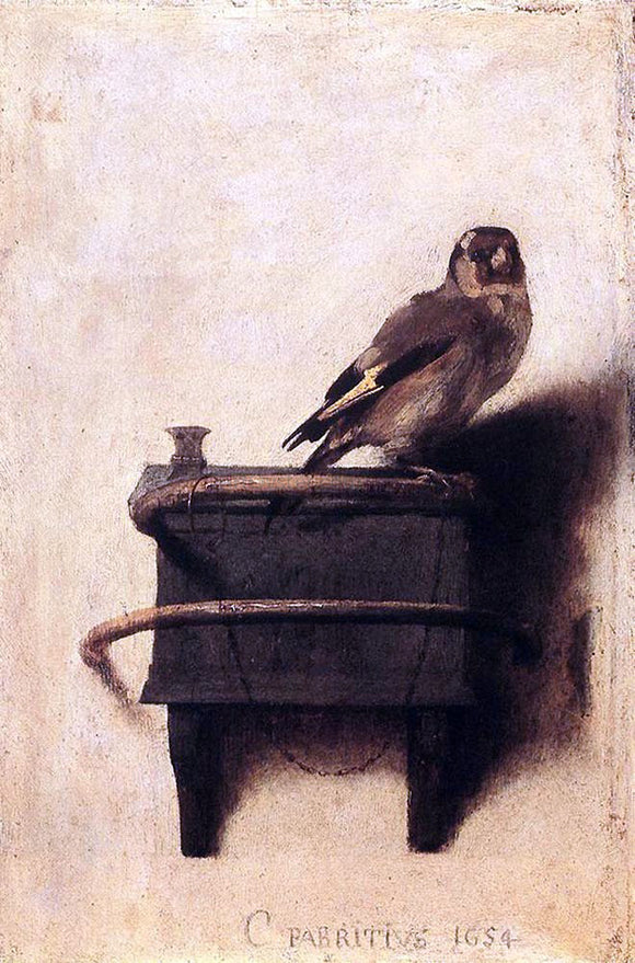 Carel Fabritius The Goldfinch - Canvas Art Print