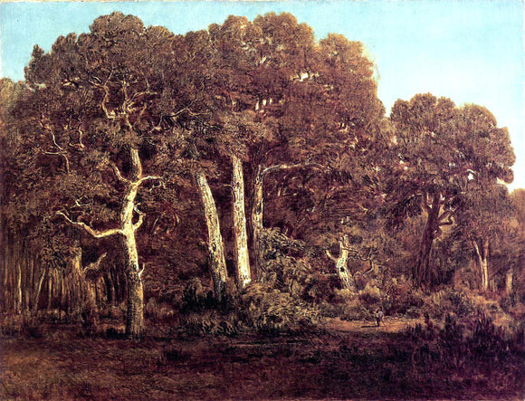 Theodore Rousseau The Great Oaks of the Vieux Bas-Breau - Canvas Art Print