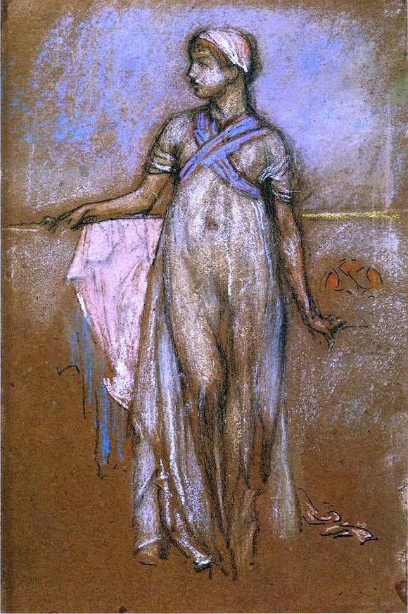 James McNeill Whistler The Greek Slave Girl (also known as Variations in Violet and Rose) - Canvas Art Print