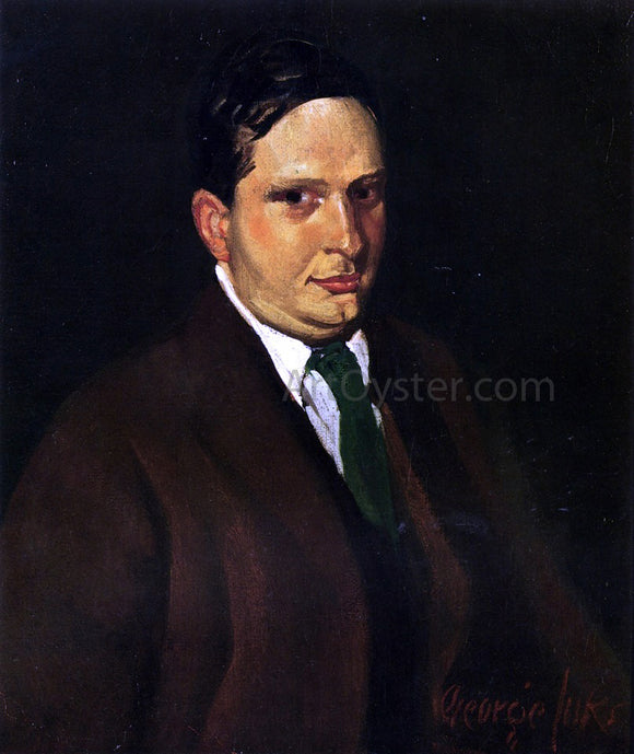 George Luks The Green Tie (also known as Portrait of Edward H. Smith) - Canvas Art Print