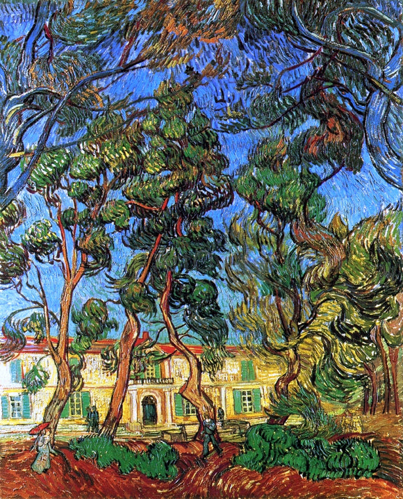 Vincent Van Gogh The Grounds of the Asylum - Canvas Art Print