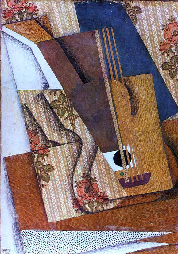 Juan Gris The Guitar - Canvas Art Print