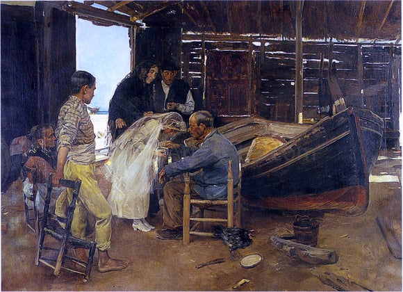 Joaquin Sorolla Y Bastida The Happy Day - Canvas Art Print