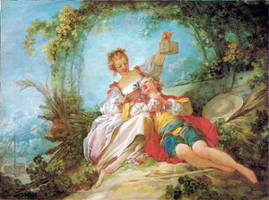 Jean-Honore Fragonard The Happy Lovers - Canvas Art Print